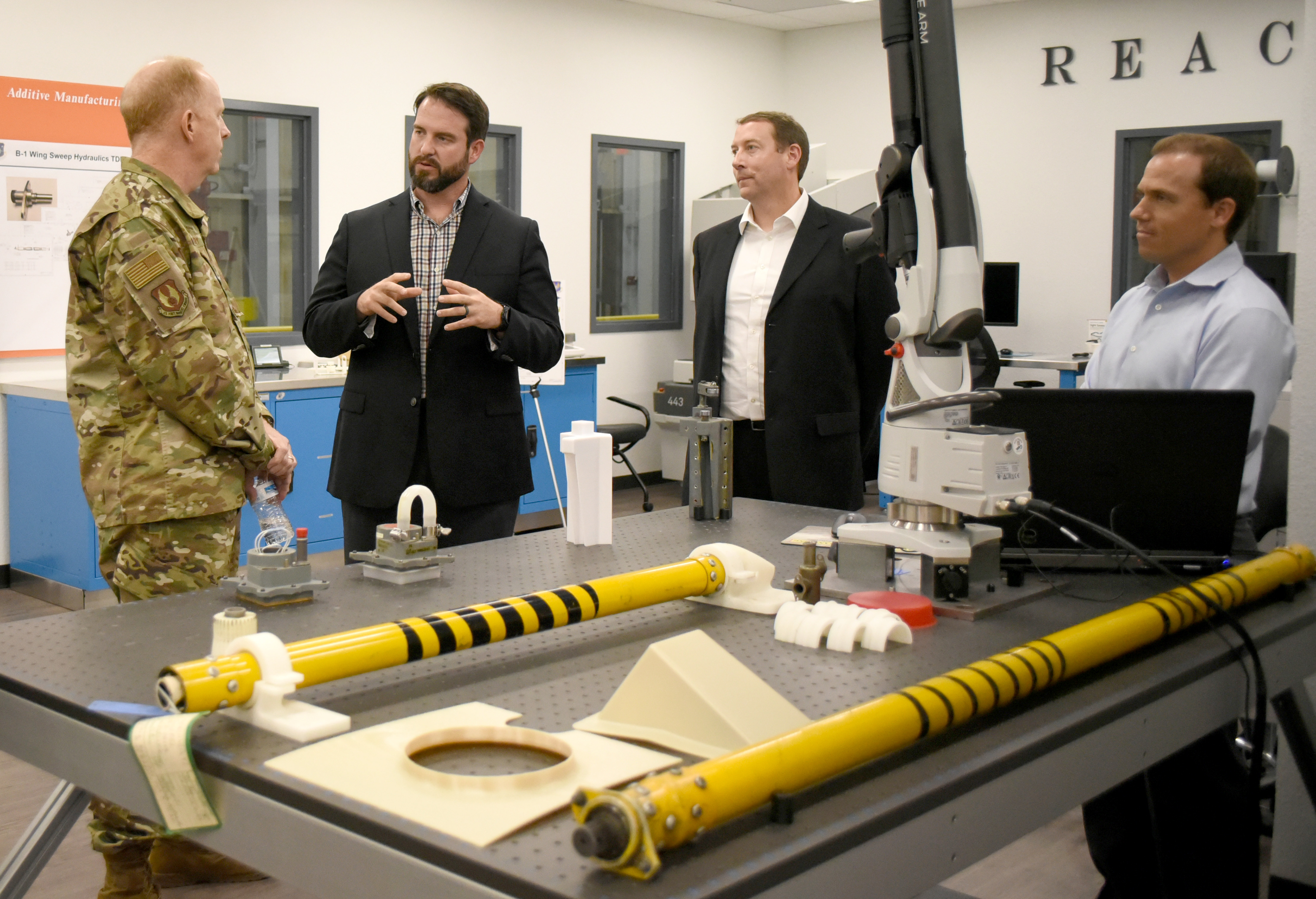AFMC interim commander visits Tinker, REACT Lab